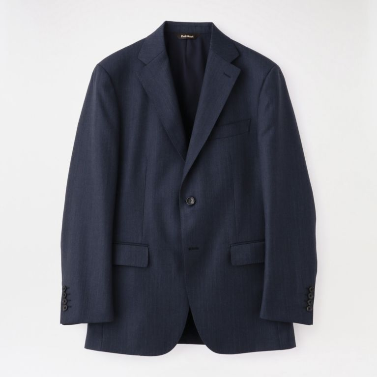【Paul Stuart MEN】 【GLOBAL×EASTGATE MODEL】ブルーグレーストライプウールスーツ/セットアップ ネイビー
