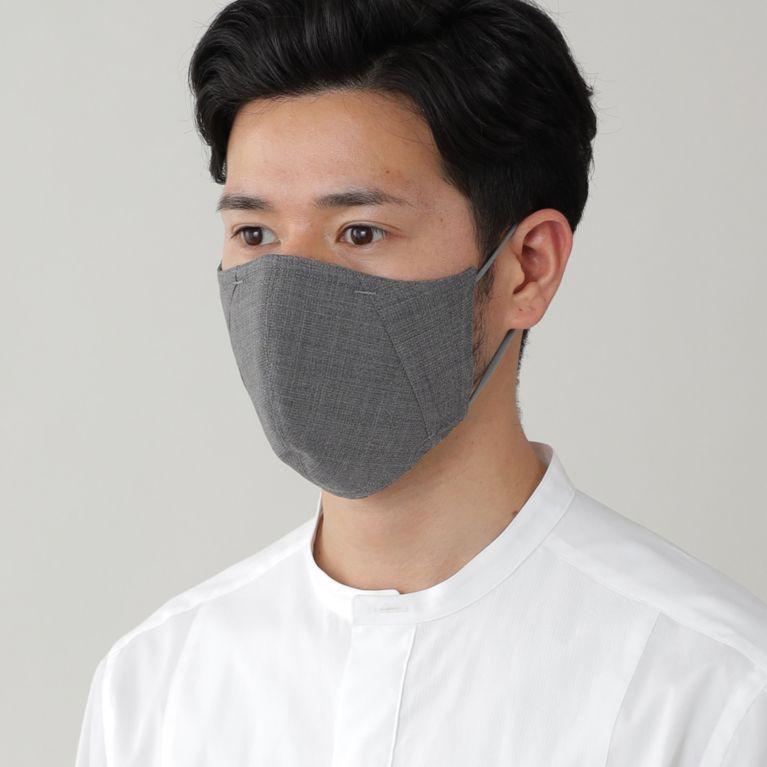 【Paul Stuart MEN】 「MADE IN JAPAN」フィルターポケットオリジナルドレスマスク(プレジデントマスク)【ウォッシャブル】 グレー系