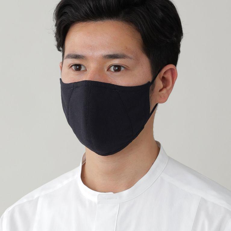 【Paul Stuart MEN】 「MADE IN JAPAN」フィルターポケットオリジナルドレスマスク(プレジデントマスク)【ウォッシャブル】 ネイビー