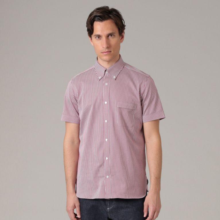 【MACKINTOSH LONDON MEN】 【ALBINI】ストライプジャージシャツ ピンク