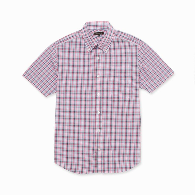 【マッキントッシュ ロンドン メン(MACKINTOSH LONDON MEN)】 BEZチェック半袖シャツ ピンク