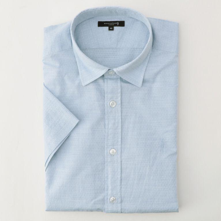 SALE【MACKINTOSH LONDON MENS マッキントッシュロンドン メンズ】 小紋ジャカードシャツ ブルー