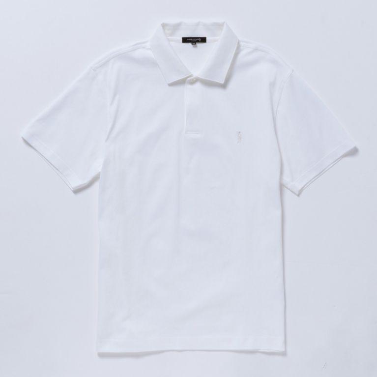 SALE【MACKINTOSH LONDON MENS マッキントッシュロンドン メンズ】 コットン天竺ポロシャツ ホワイト