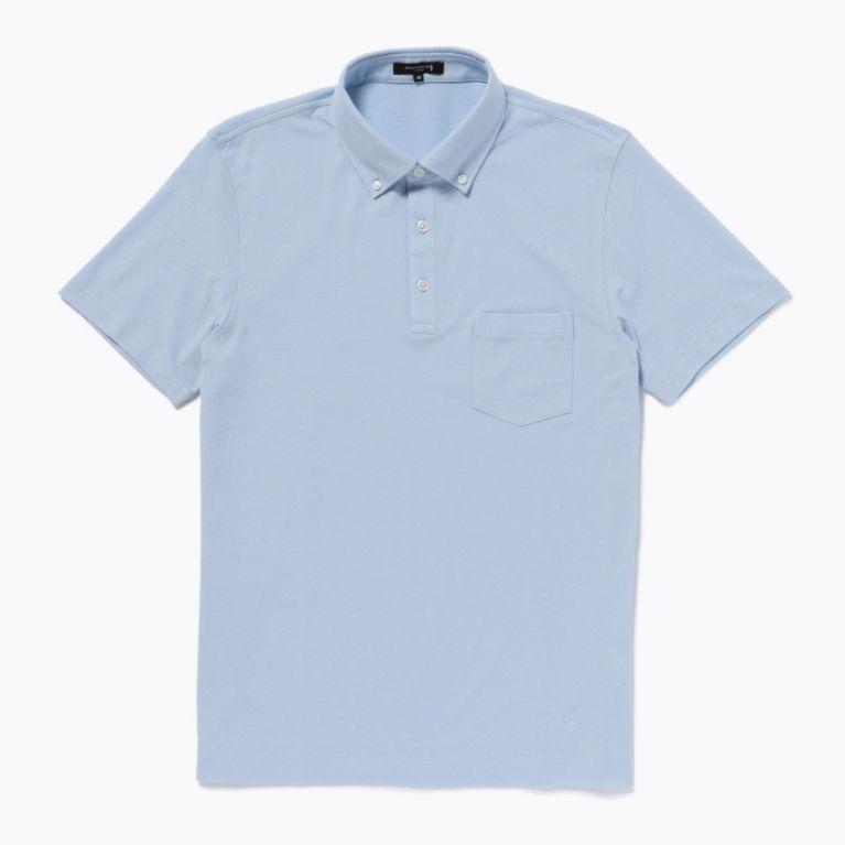 SALE【MACKINTOSH LONDON MENS マッキントッシュロンドン メンズ】 アイスコットン鹿の子ポロシャツ ブルー