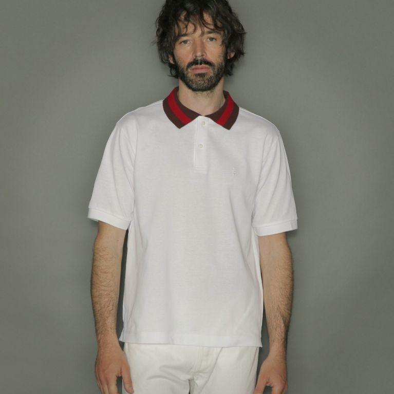 【MACKINTOSH LONDON MEN】 ハウスカラー衿ラインポロシャツ ホワイト