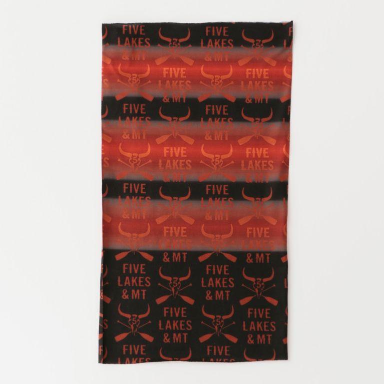 <三陽商会>【ファイブレイクス・アンド・エムティー(5LAKES & MT)】バッファロー柄マルチヘッドウェア オレンジ画像