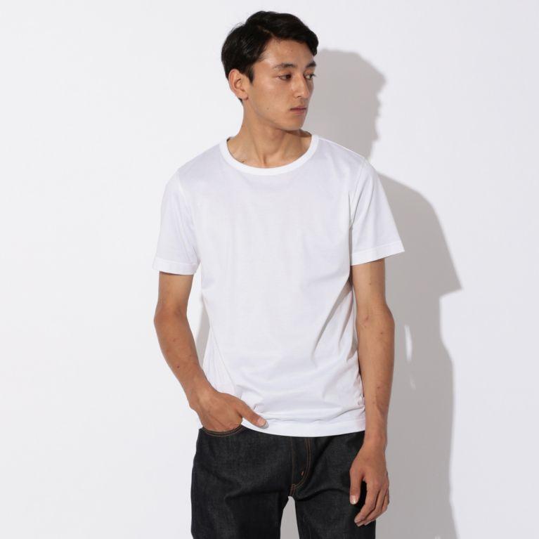 【SANYO ESSENTIALS サンヨー・エッセンシャルズ】 【MENS】2nd SKINシリーズ クルーネックTシャツ ホワイト