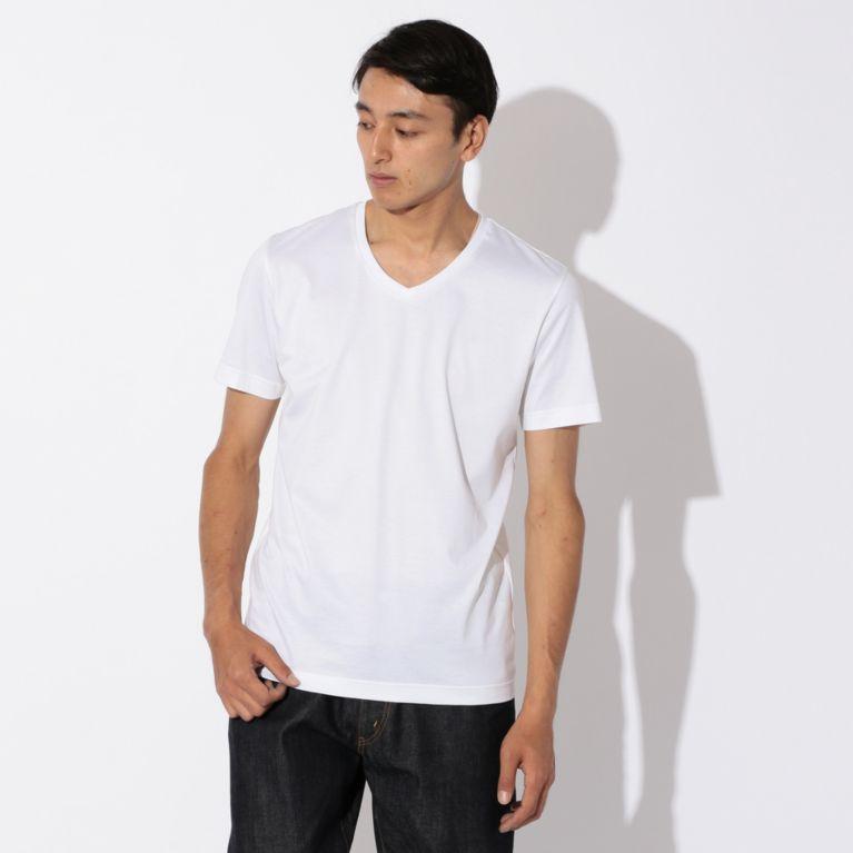 【SANYO ESSENTIALS サンヨー・エッセンシャルズ】 【MENS】2nd SKINシリーズ VネックTシャツ ホワイト