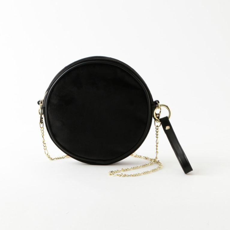 【CACHELLIE】VELOURS CIRCLE POCHETTE ブラック【ル ジュール(LE JOUR)】