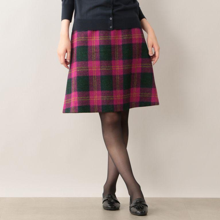【MACKINTOSH PHILOSOPHY WOMEN】 ハリスツイードスカート ピンク