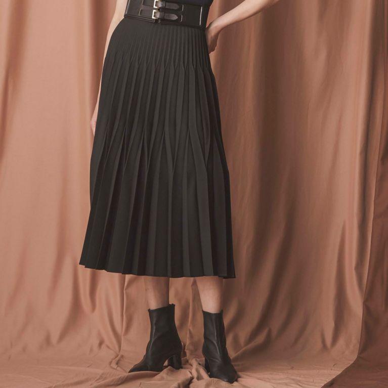 【EPOCA】 メランジクロススカート 黒