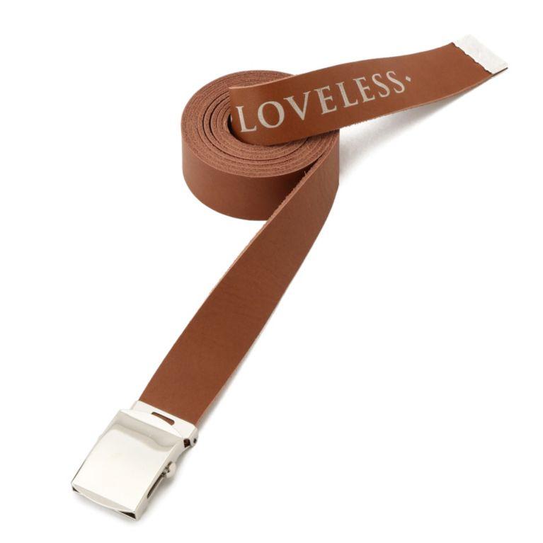 <三陽商会>【ラブレス(LOVELESS)】【LOVELESS】MENS ローラーバックルレザーベルト ブラウン画像