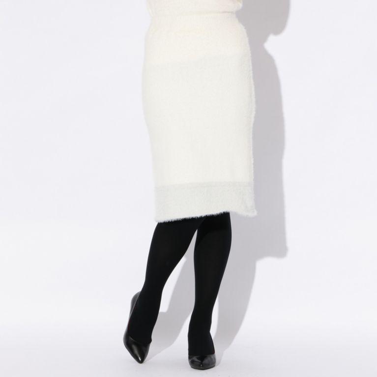 69%OFF!SALE<三陽商会>【ラブレス(LOVELESS)】【LOVELESS】WOMENS セットアップシャギースカート ホワイト 定価 14040円から 9720円値引!画像