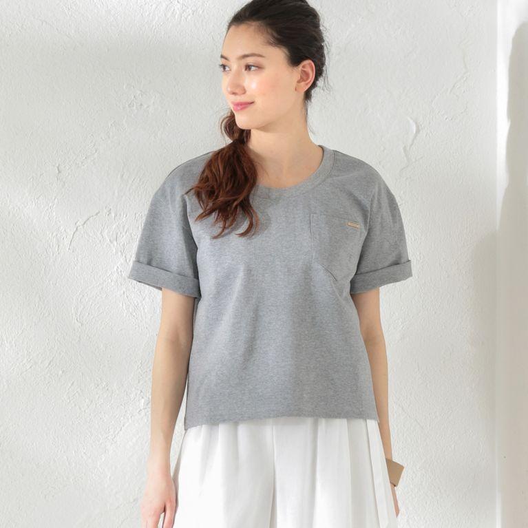 【LOVELESS】 【LOVELESS】WOMEN はっ水ポケットTシャツ グレー