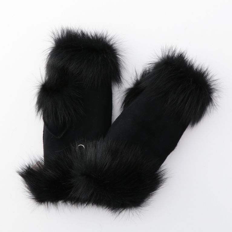 【GUILD PRIME ギルドプライム】 【GUSHLOW & COLE】WOMENS 手袋-FINGERLESS MITTENS MFMT0 TOSCANA- ブラック