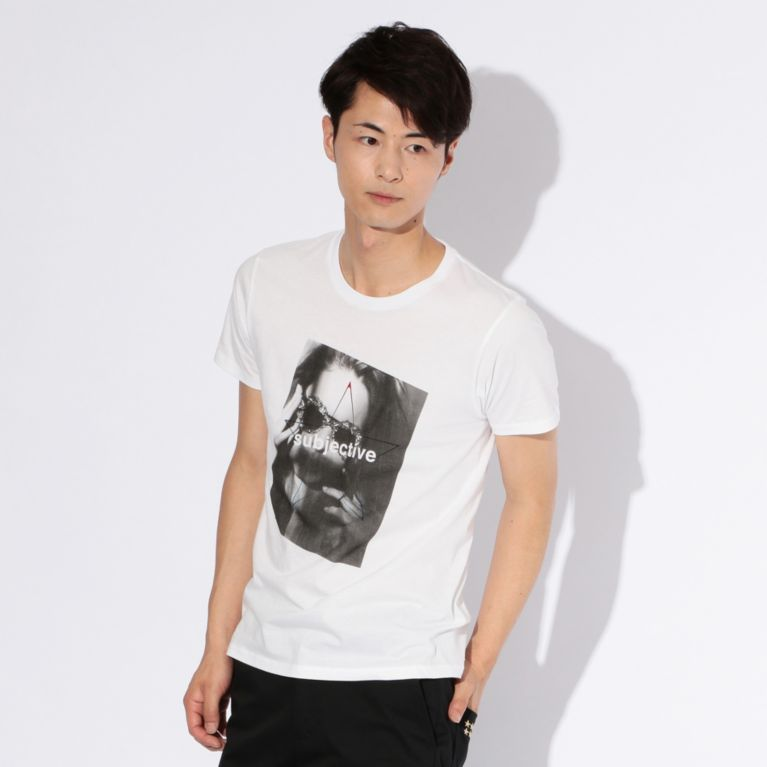 【GUILD PRIME ギルドプライム】 【WEB限定】【GUILD PRIME】MENS SUBJECTIVE フォトTシャツ ホワイト