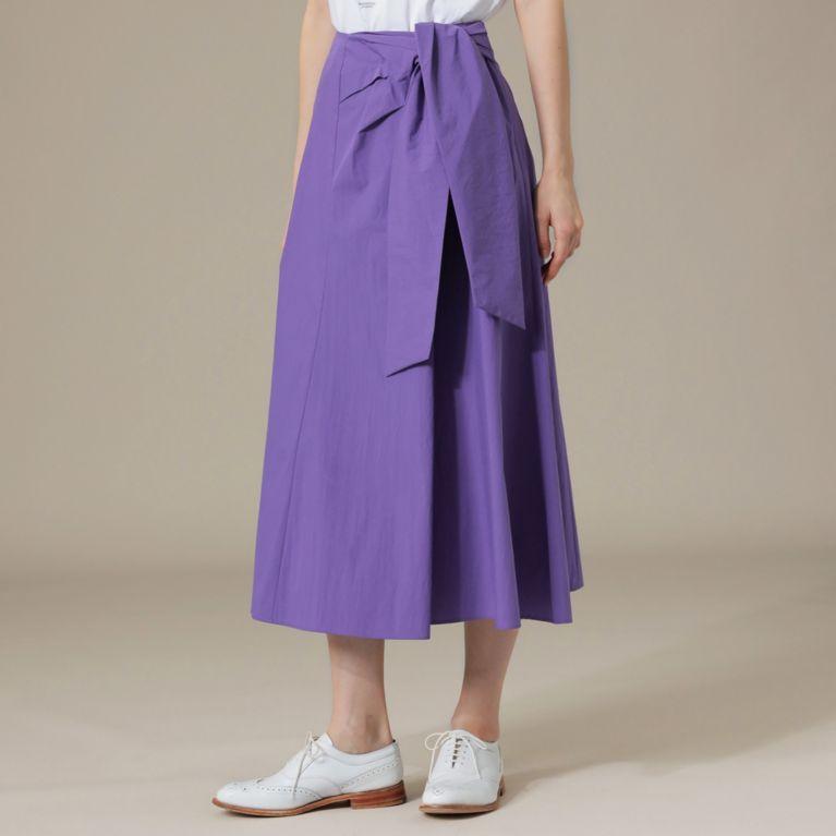【MACKINTOSH LONDON WOMEN】 コットンナイロンタイプライターロングスカート ラベンダー