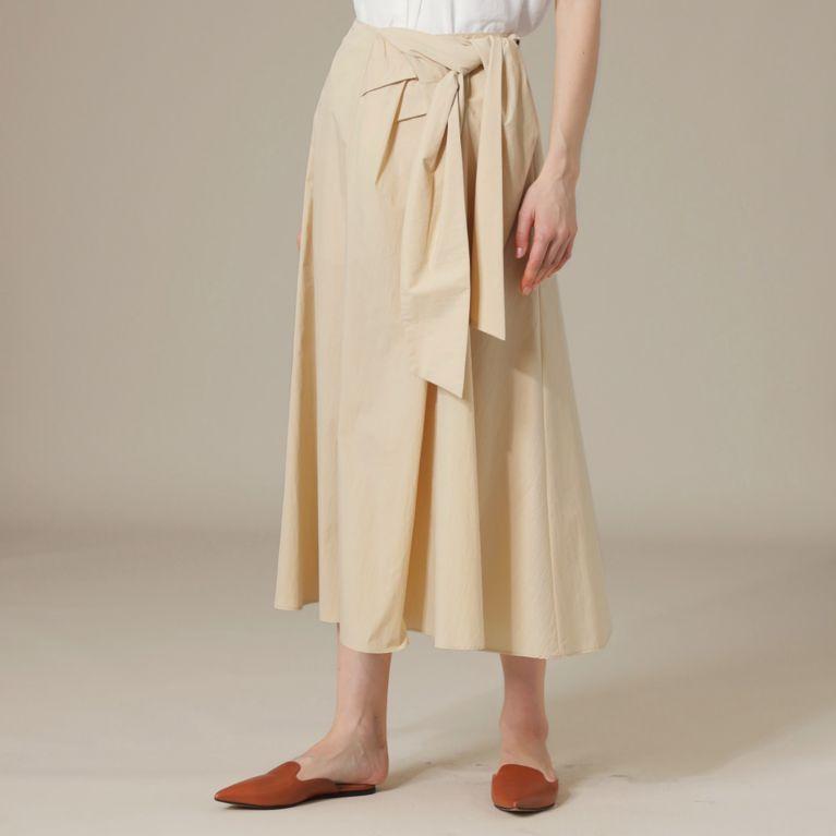 【MACKINTOSH LONDON WOMEN】 コットンナイロンタイプライターロングスカート ベージュ