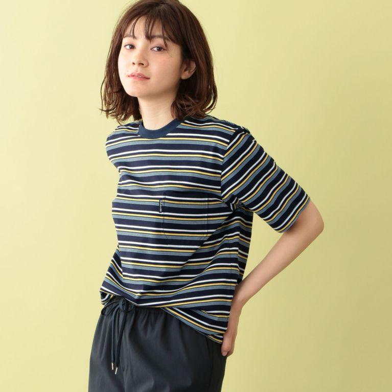 <三陽商会>【エムピー ストア(MP STORE)】【BLUE BLUE】ランダムボーダーTシャツ ネイビー画像