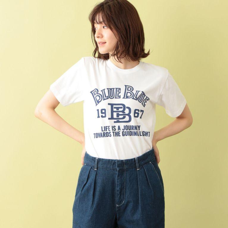 <三陽商会>【エムピー ストア(MP STORE)】【BLUE BLUE】ロゴTシャツ ホワイト画像