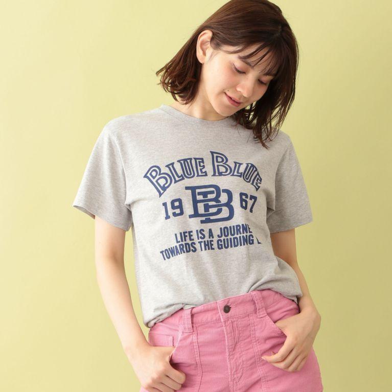 <三陽商会>【エムピー ストア(MP STORE)】【BLUE BLUE】ロゴTシャツ グレー