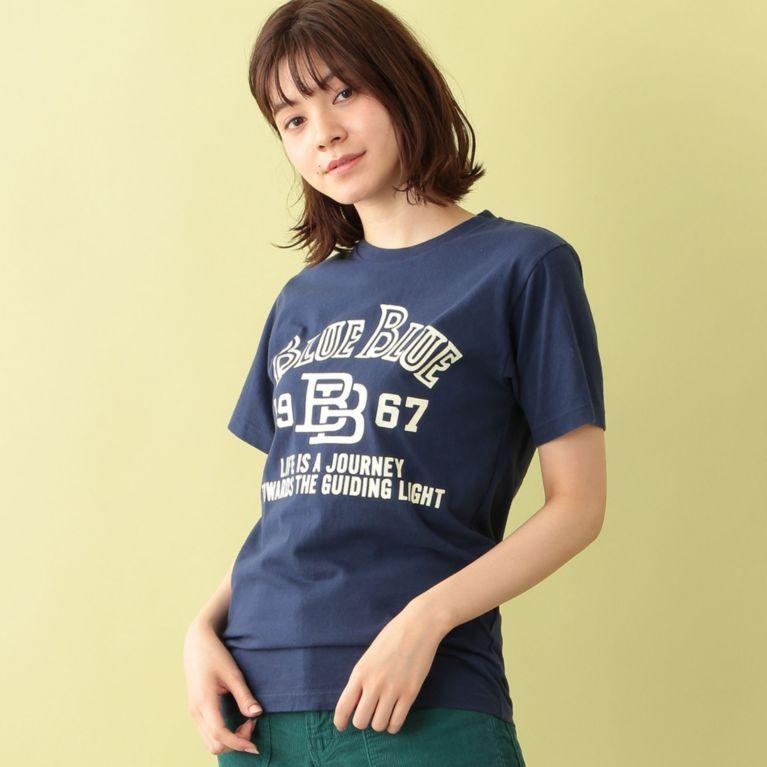 <三陽商会>【エムピー ストア(MP STORE)】【BLUE BLUE】ロゴTシャツ ネイビー画像