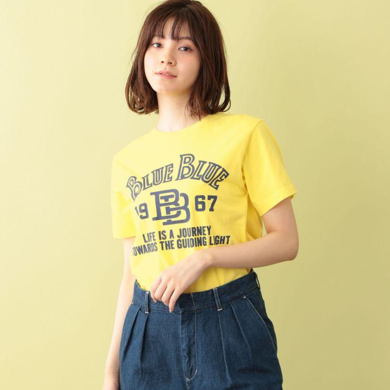 <三陽商会>【エムピー ストア(MP STORE)】【BLUE BLUE】ロゴTシャツ イエロー
