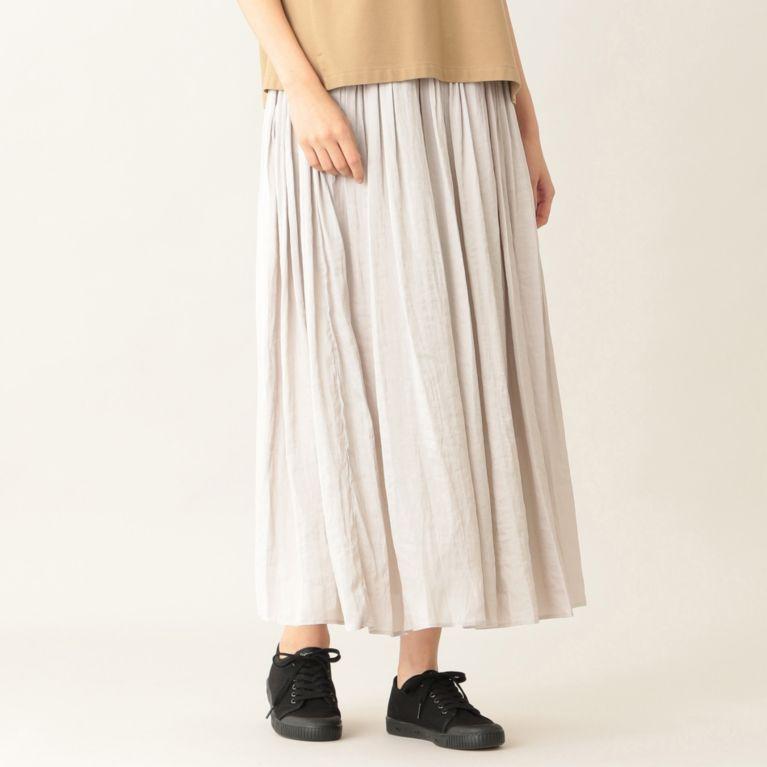 【エムピー ストア(MP STORE)】 ヴィンテージサテンマキシスカート シルバー