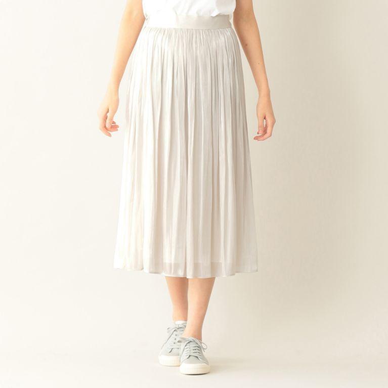 【エムピー ストア(MP STORE)】 ギャザースカート シルバー