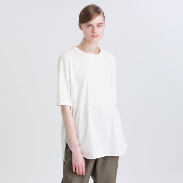 【エムピー ストア(MP STORE)】 ラウンドカットTシャツ オフホワイト
