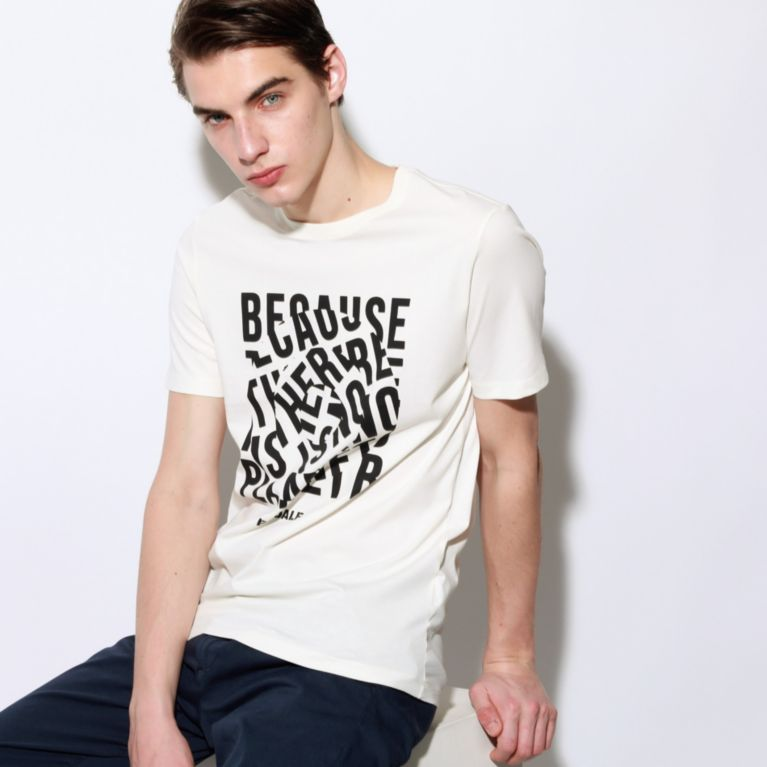 【ECOALF】 NATAL ユニセックス BECAUSE Tシャツ / NATAL UNISEX BECAUSE T-SHIRT ホワイト